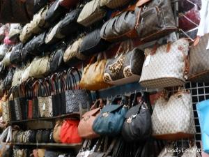Yep, fake branded bags